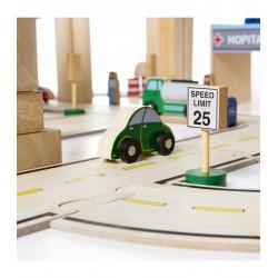 Drewniane klocki- ruch drogowy