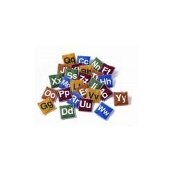 Woreczki z fasolą alfabet